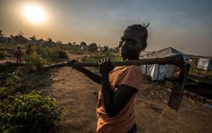 Reida Nyoka, a South Sudanese refugee in the Bidi Bidi refugee settlement in Northern Uganda