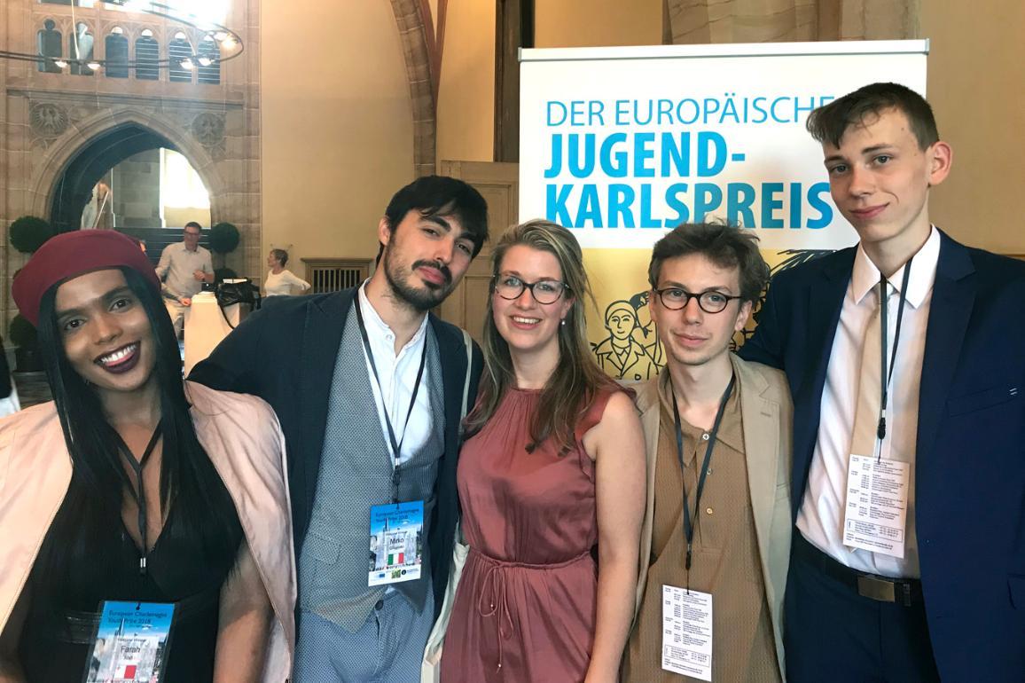Ganadores del Premio Carlomagno de la Juventud 2018.