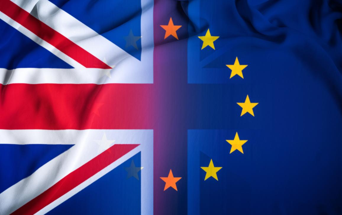 UK and EU flag next to each other