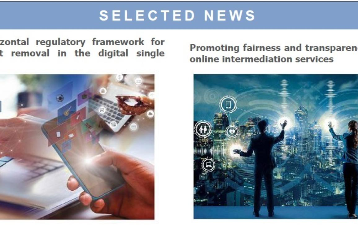 Front page of IMCO newsletter- Selected news