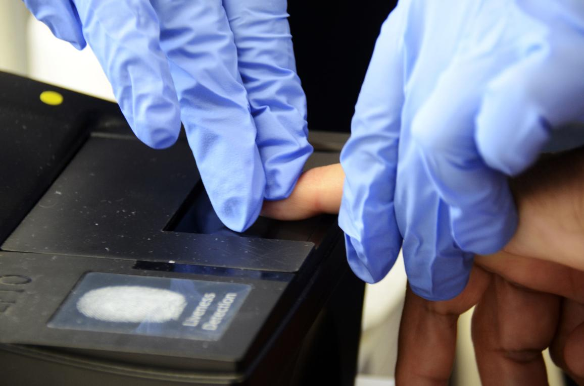 Fingerprinting system © AP Images/European Union-EP