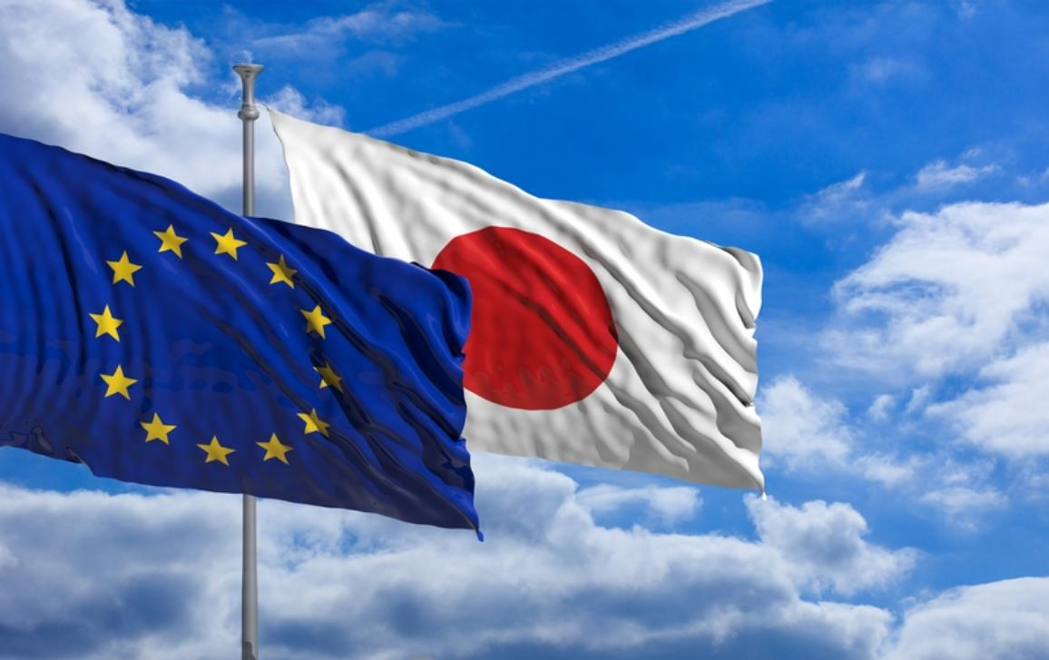 Image of EU and Japan flags