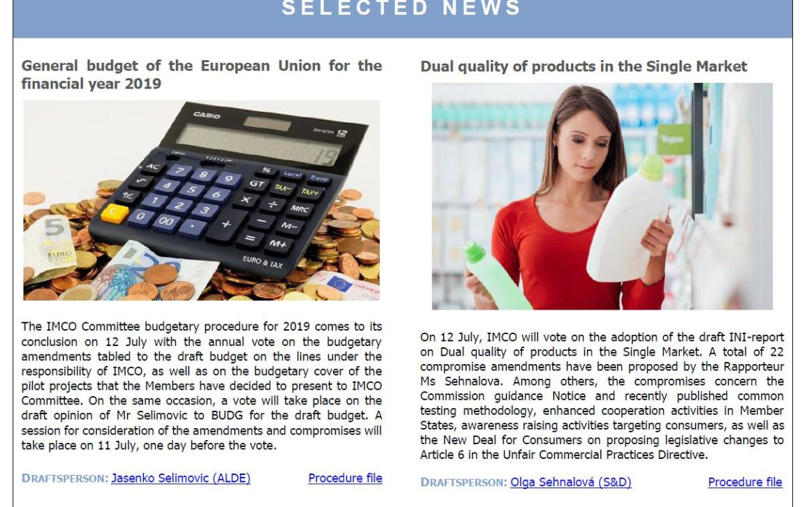 selected news of IMCO newsletter - issue 94