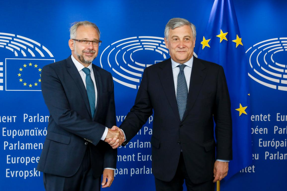 EPPresident Antonio Tajani and EBU President Jean-Paul Philippot