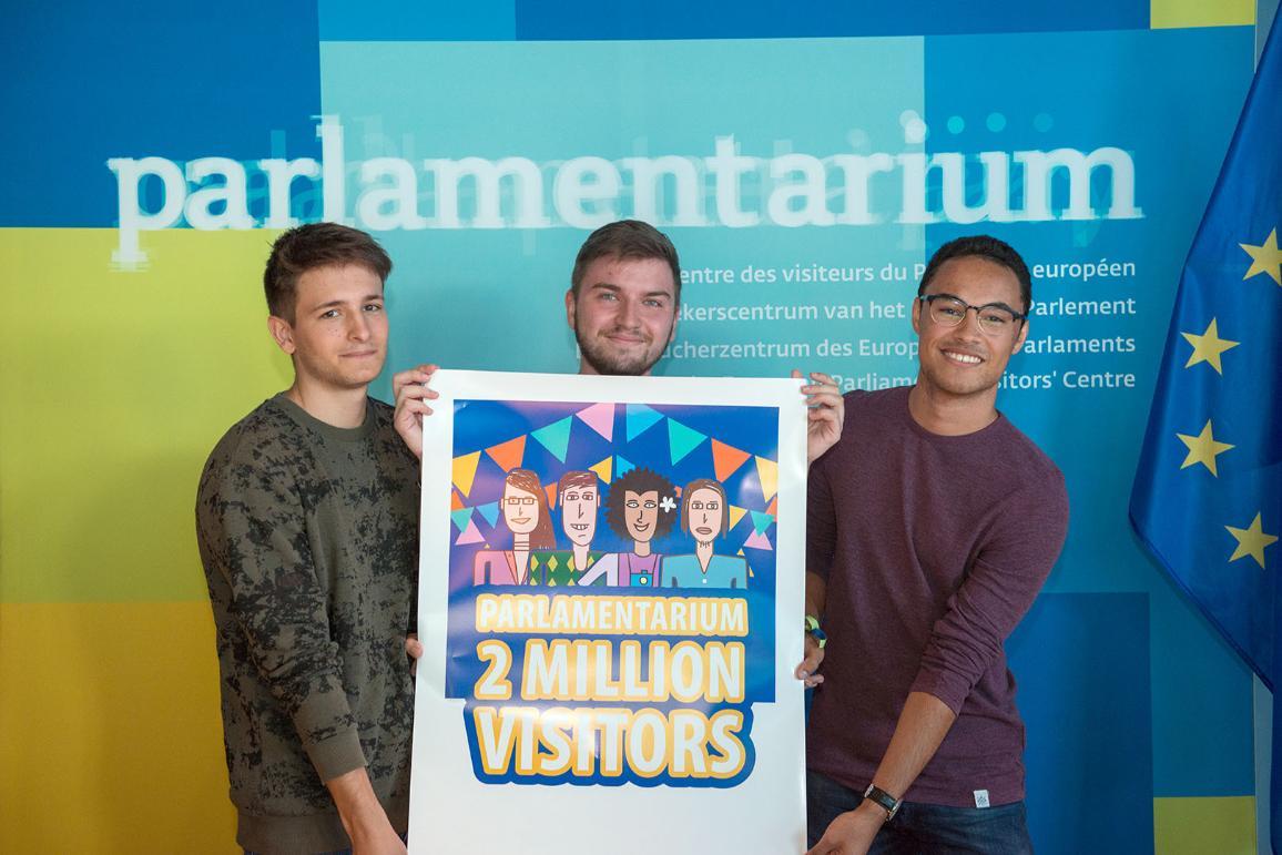 L'11 luglio 2018 il Parlamentarium, centro visitatori del Parlamento europeo, ha accolto con festeggiamenti il 2 milionesimo visitatore