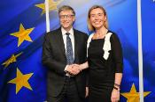 Federica Mogherini with Bill Gates