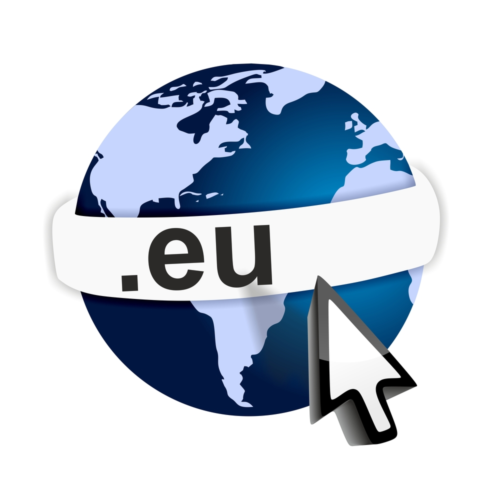 Online connection with domain dot EU