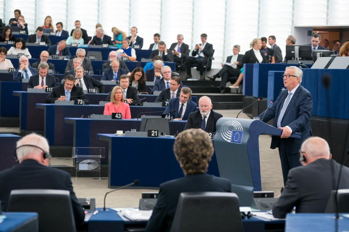 European Commission President Jean-Claude Juncker addressed MEPs on his last State of the Union debate.