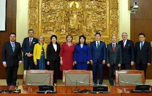 members of the State Great Hural Parliament and the EP delegation