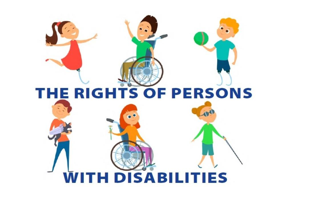 Disabled people. Wheelchair for kids. Children with disability. Vector characters in cartoon style.