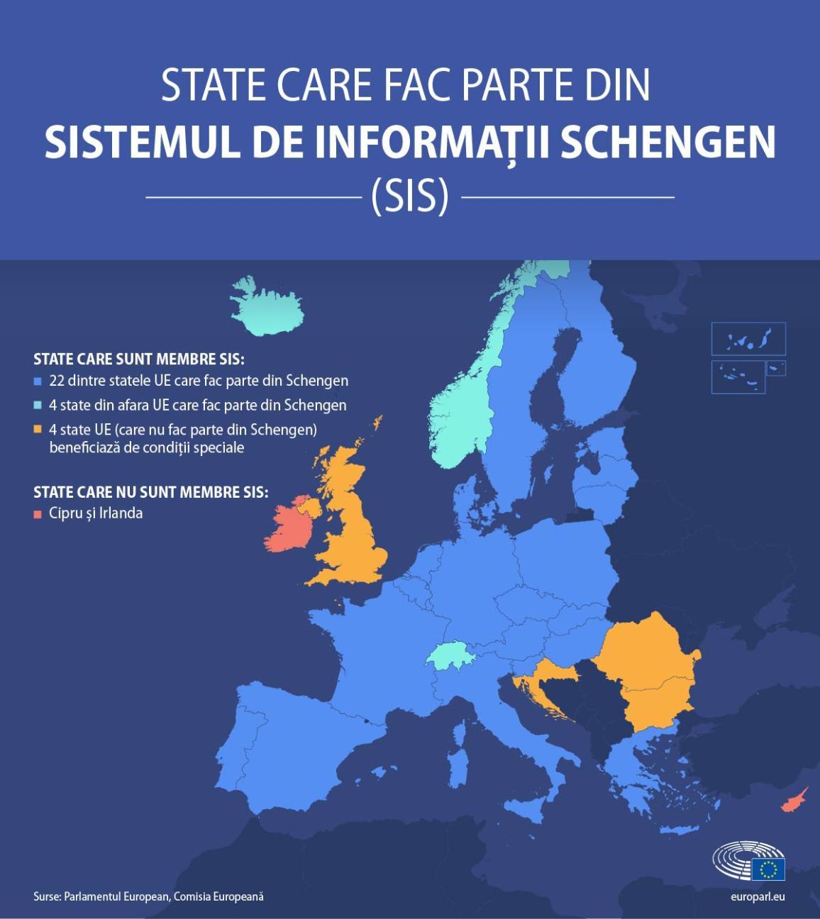 State care fac parte din Sistemul de Informații Schengen .
