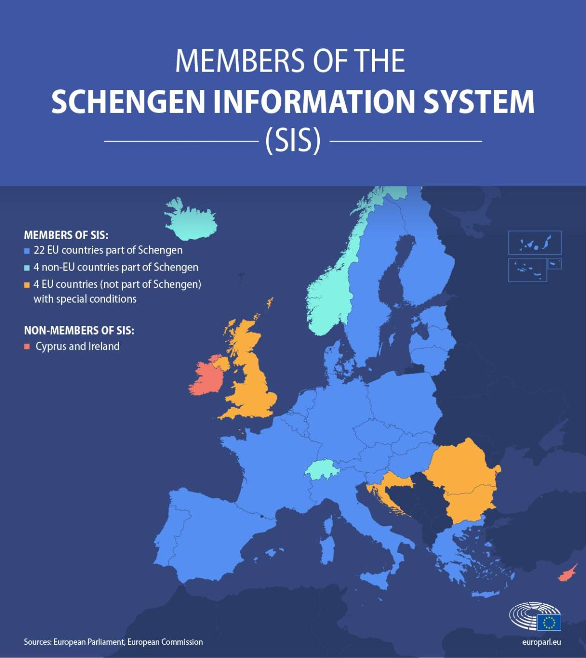 infographie illustration on the Schengen Information System (SIS)