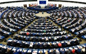 Meeting of the European Parliament in its hemicycle