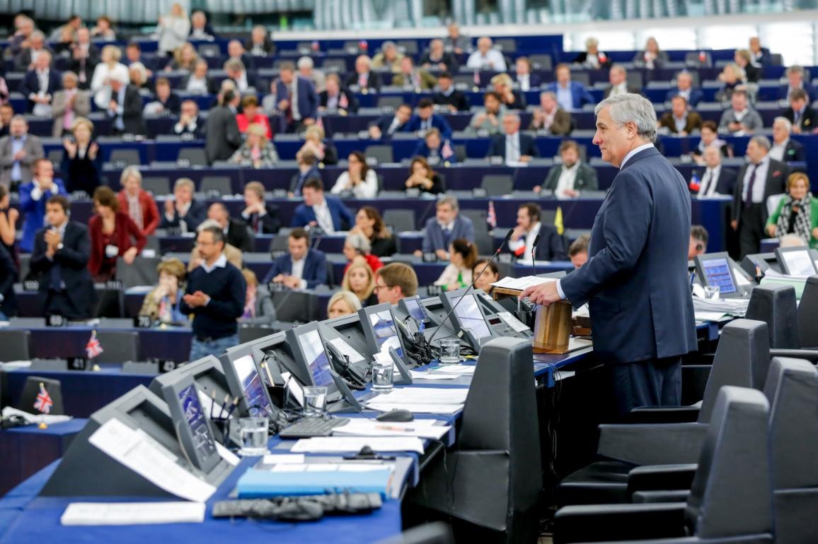 EP-Präsident Antonio Tajani bei einer Plenartagung in Straßburg