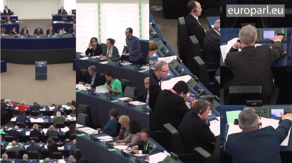 Achter de schermen van een plenaire zitting © Europees Parlement .