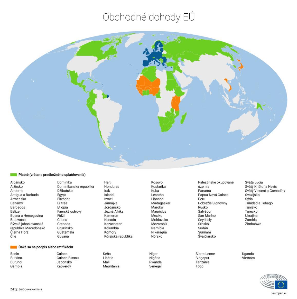 mapa sveta s farebne vyznačenými krajinami