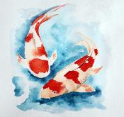 EU-Japan relations - Koi fish side by side