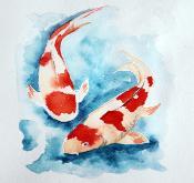 EU-Japan relations - Koi fish side by side
