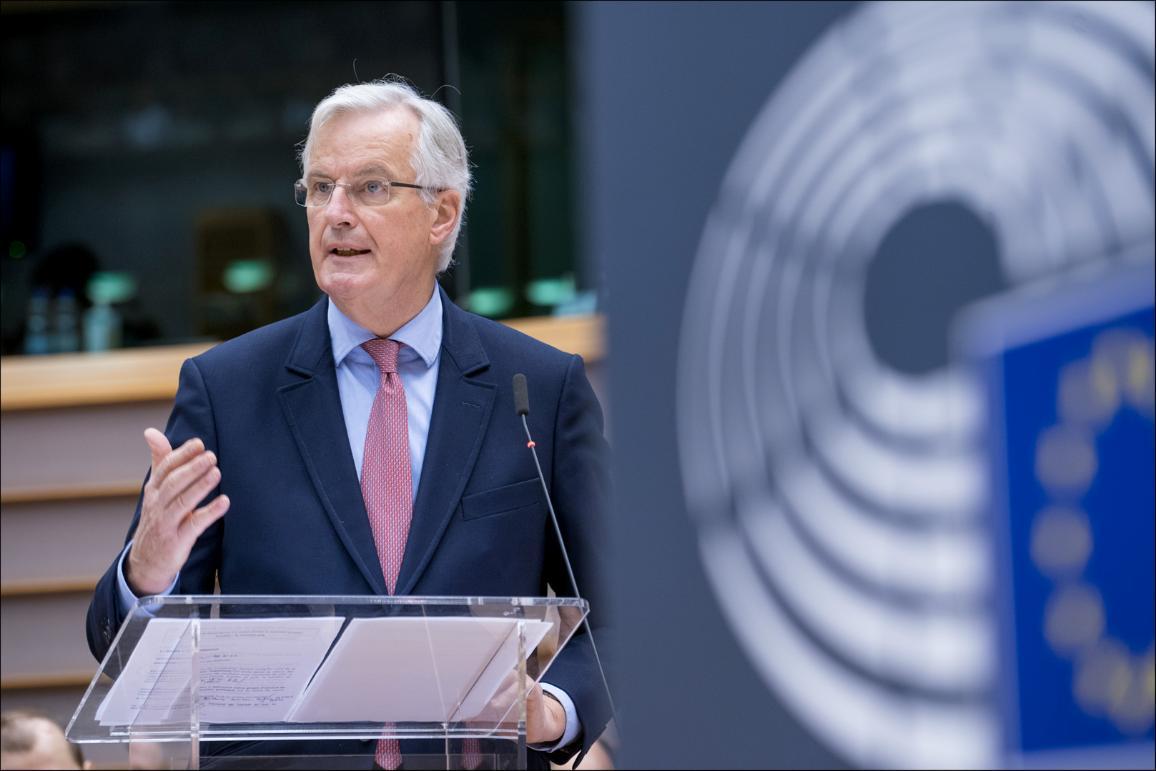 Parliament members debate the #Brexit withdrawal agreement with EU chief negotiator Michel Barnier