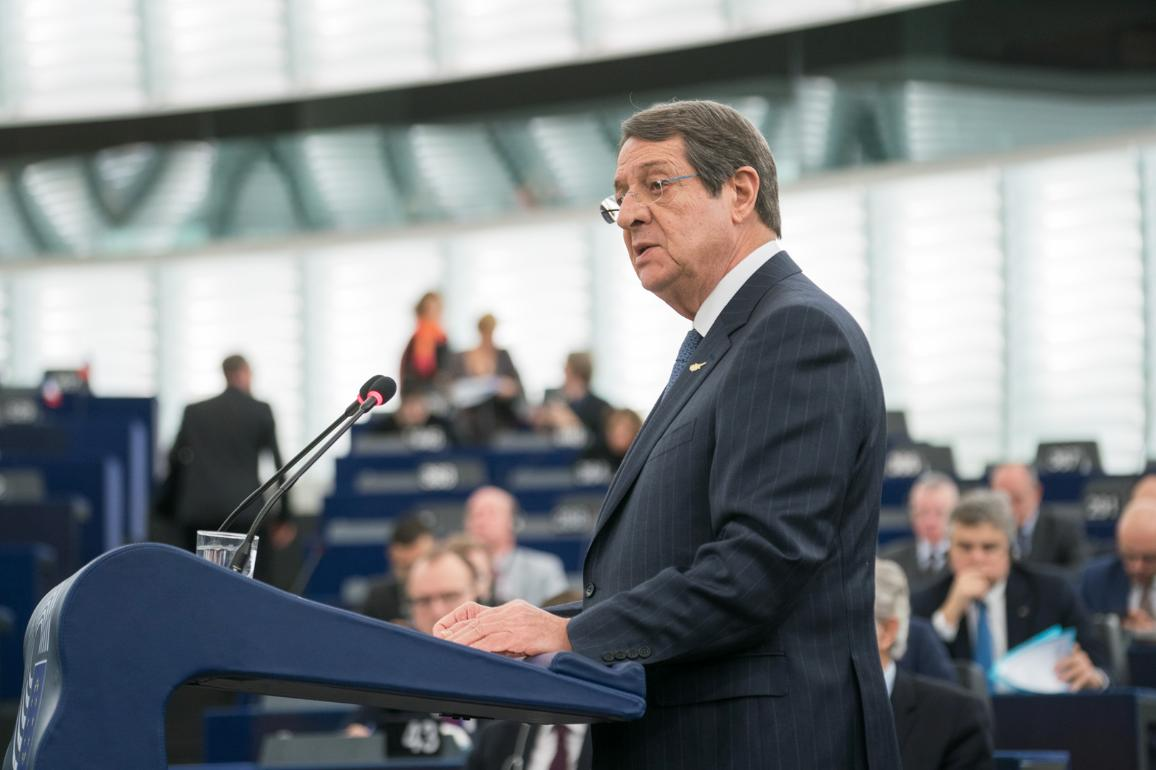 President of the Republic of Cyprus Nicos Anastasiades debates the future of Europe with MEPs and EU Commission President Jean-Claude Juncker