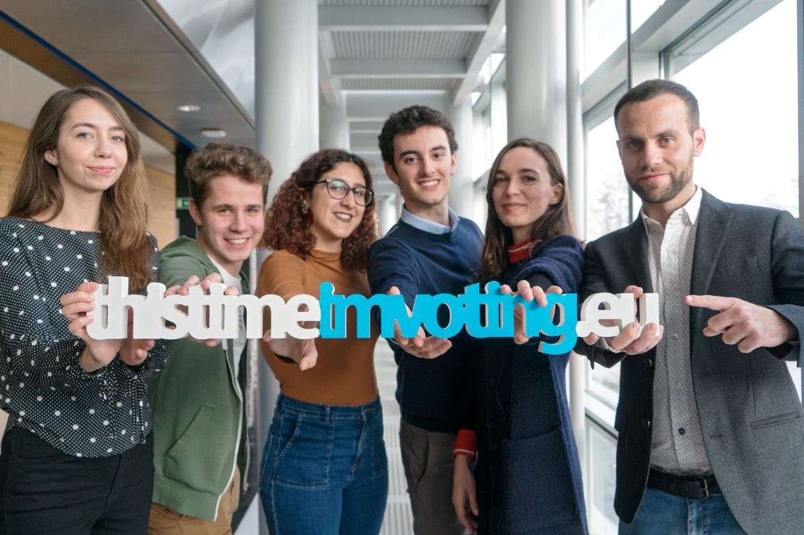 "The winners of the #myeumoment video competitions are among the 100k ""thistimeimvoting"" volunteers. This time is not only about voting but persuading others to vote too. Be active and become an ambassador, subscribe to www.thistimeimvoting.eu"