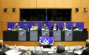 AFET, DEVE, DROI chairs at top table with the representative of Oleg Sentsov, Sakharov laureate