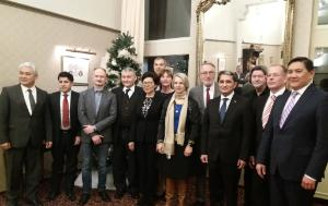 EP Chair, Iveta Grigule-Pēterse, hosts a New Years dinner for the Ambassadors of Central Asian Countries and Mongolia