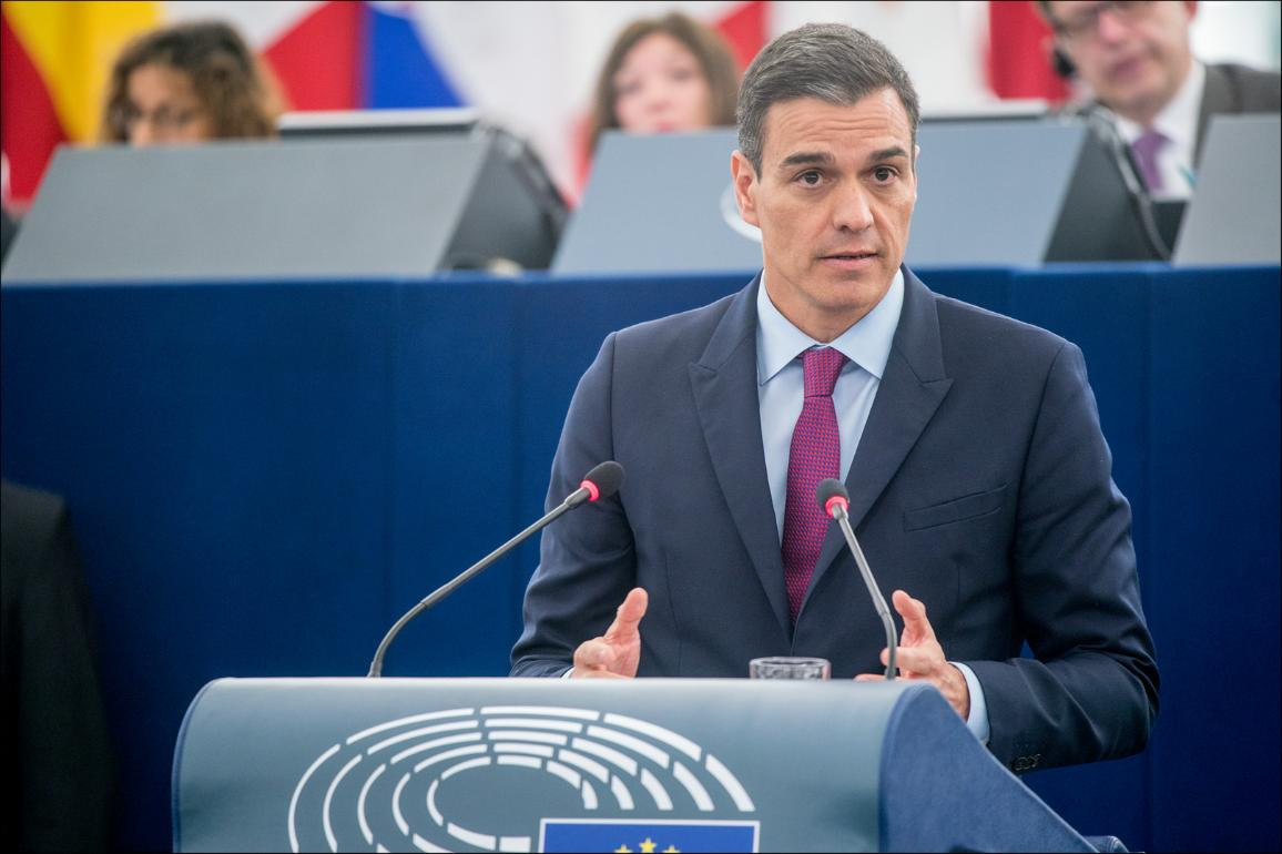 European Parliament plenary debate with the President of the Government of Spain, Pedro Sánchez Pérez-Castejón, on the Future of Europe. CC-BY-4.0 ©European Union 2019 - Source:EP