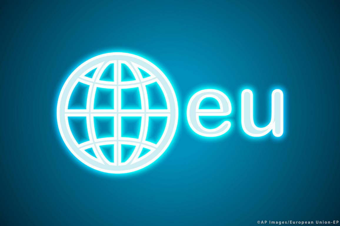 .eu: é o domínio da Internet para a União Europeia.