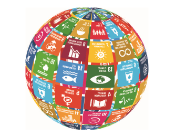 Sustainable Development Goals represented by 17 graphics forming a globe from the UN official site