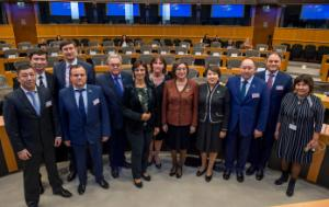 Members of the Mazhilis Parliament of Kazakhstan with EP members