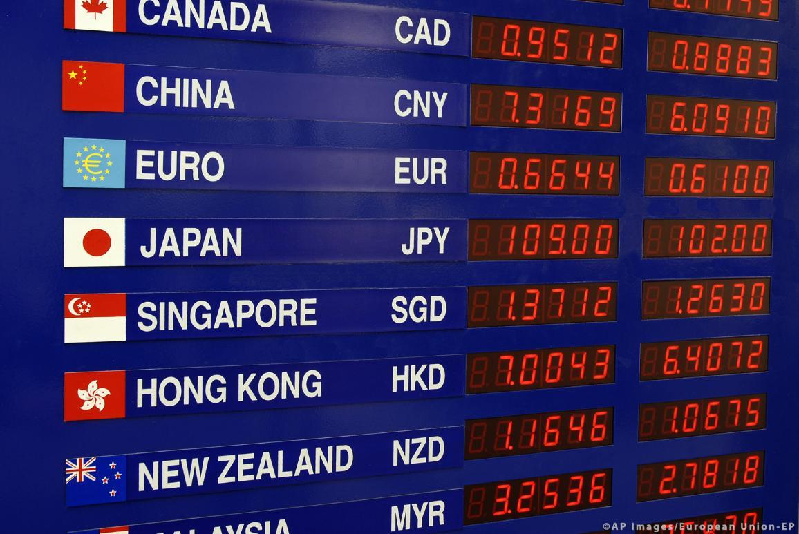 tabuľka s výmennými kurzami