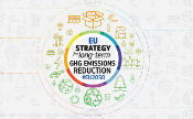EU Strategy for long-term GHG emissions reduction #EU2050 logo