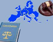 Gavel, Map of Europe and Constitution