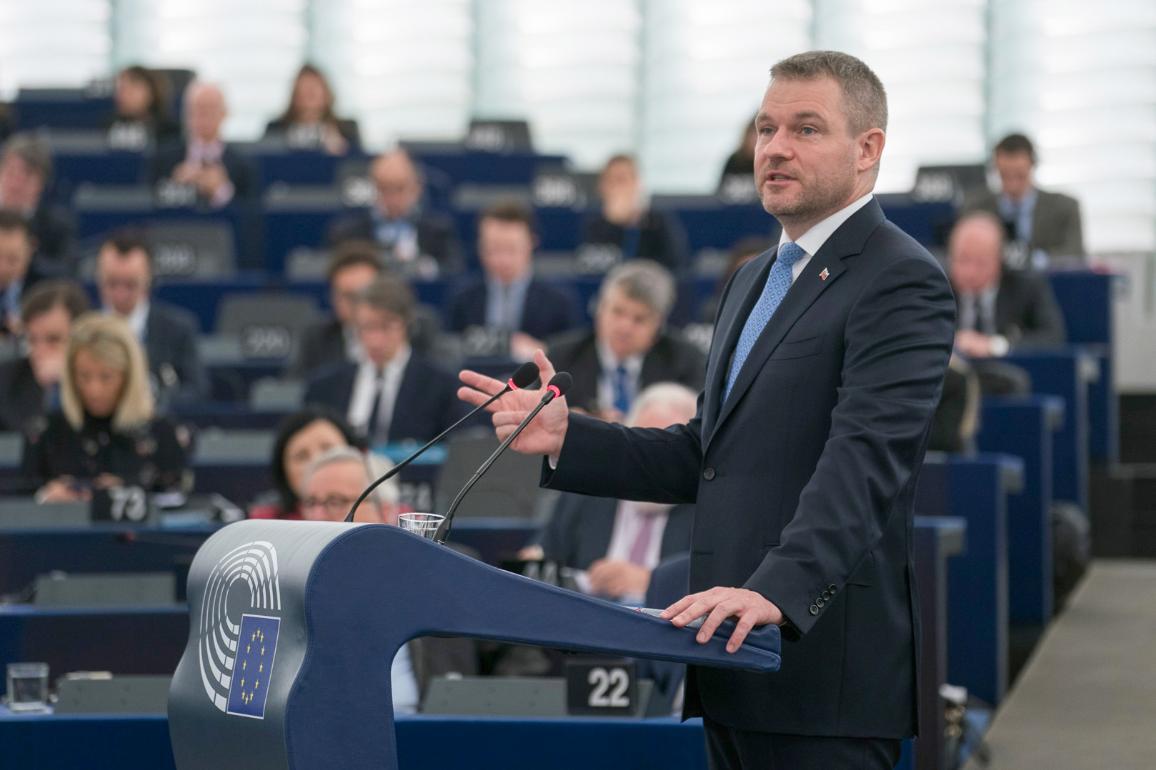 Peter Pellegrini addresses the EP_