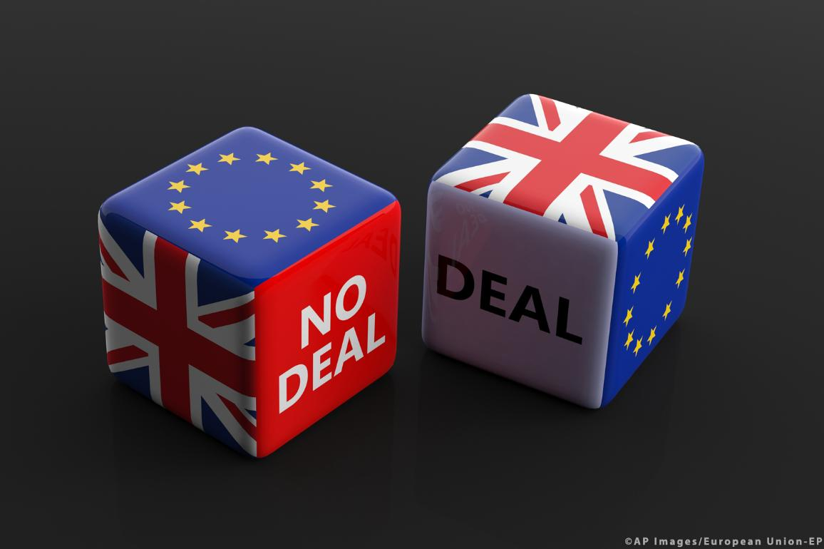 Brexit, deal or no deal illustration image. ©AP Images/European Union-EP