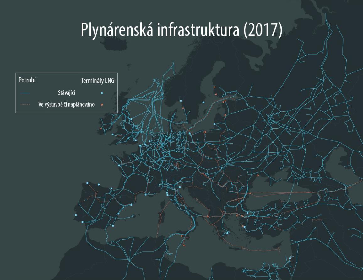 mapa plynovovdů do EU