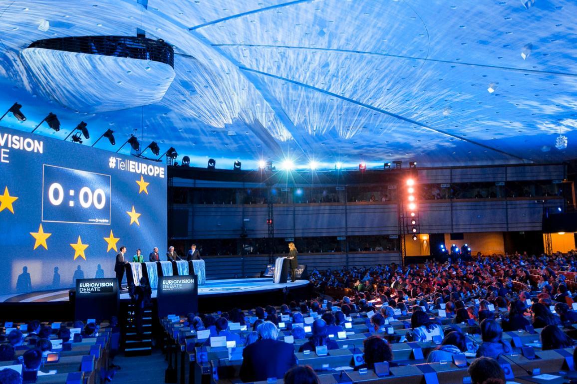 Predvolebná debata kandidátov na post predsedu EK sa konala v rokovacej sále EP v Bruseli.