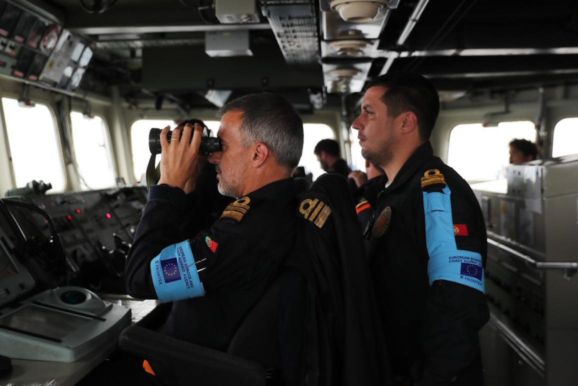 Frontex Coast Guards in action