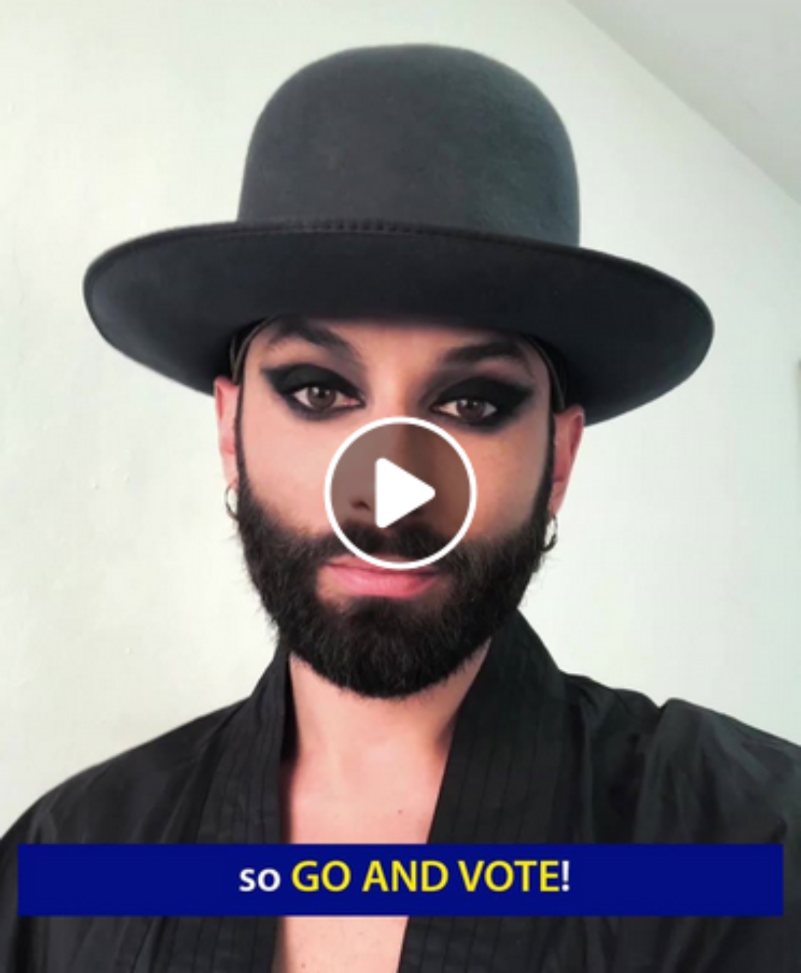 Eurovision Song Contest winner Conchita Wurst calls on Europeans to cast their ballot