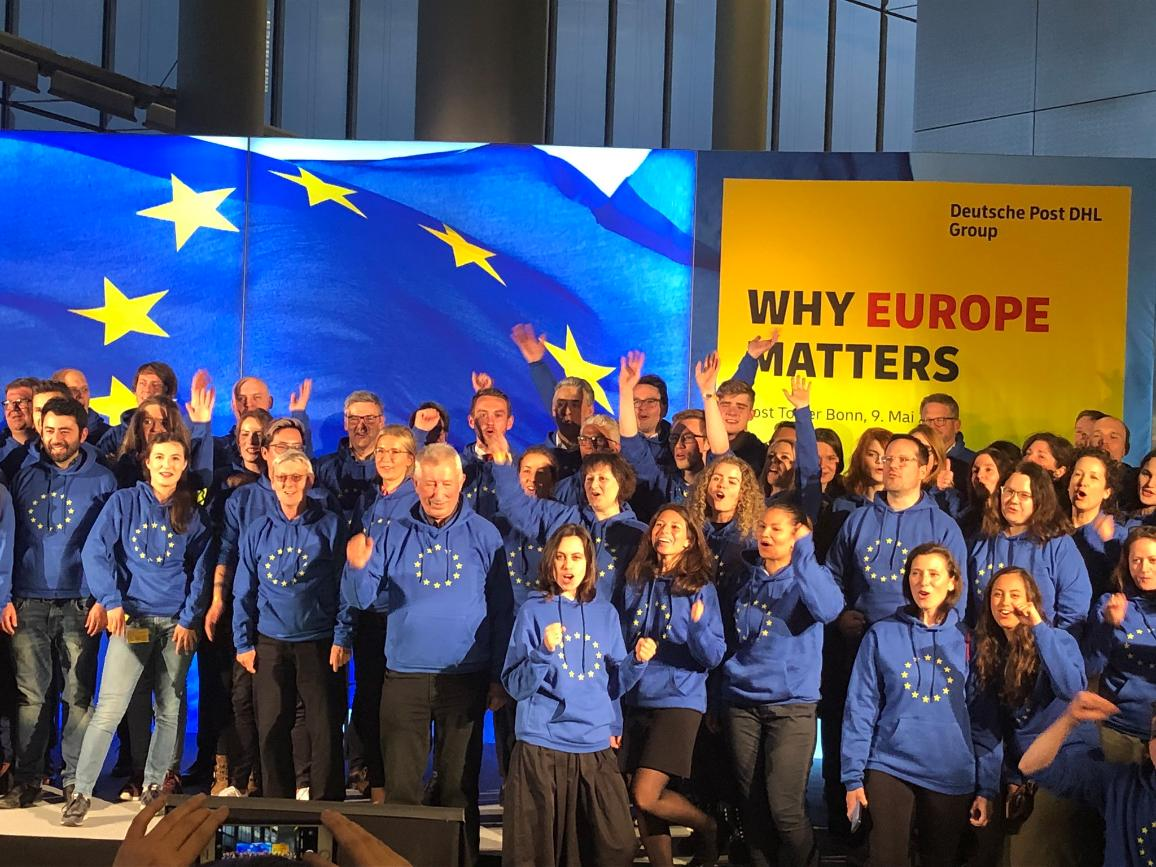 Businesses all over Europe are mobilising their employees and customers to vote © Deutsche Post DHL Group 2019 @deutschepostdhl