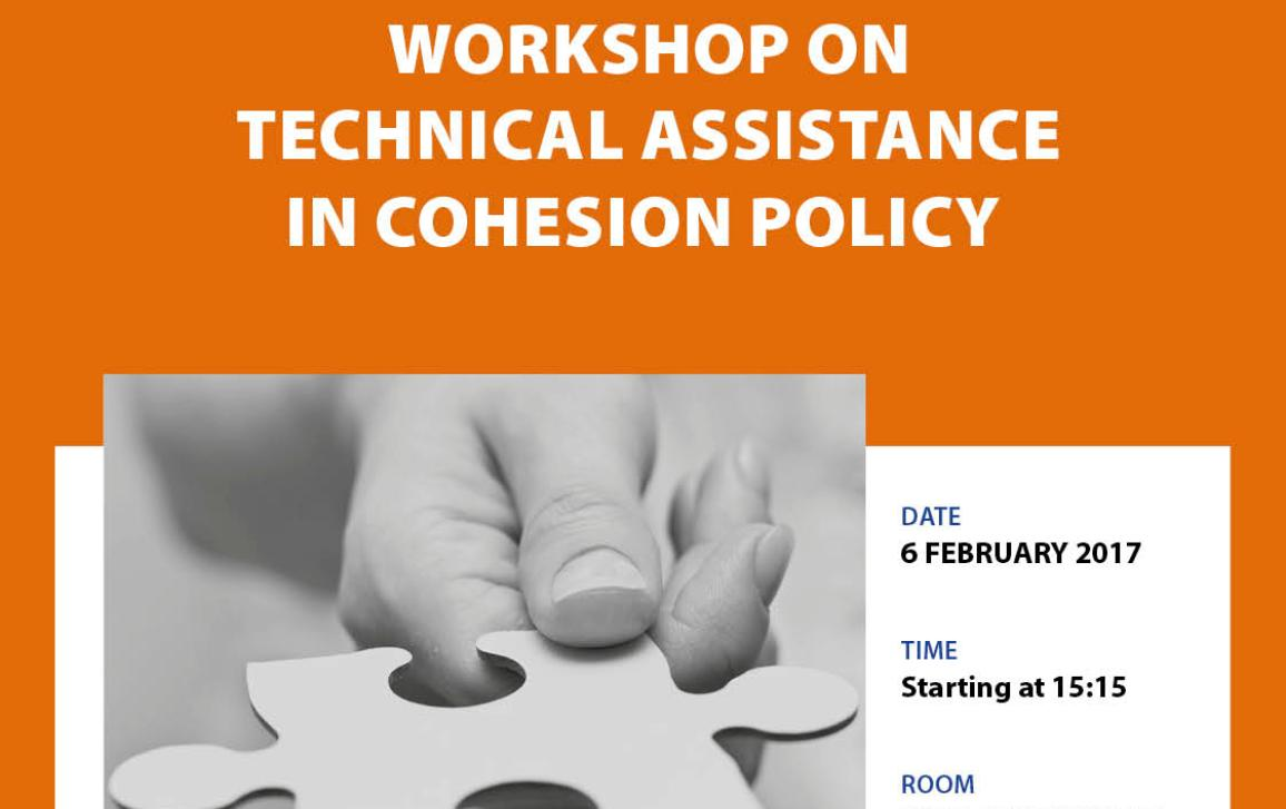 Poster-cover page-workshop on Technical assistance in Cohesion Policy