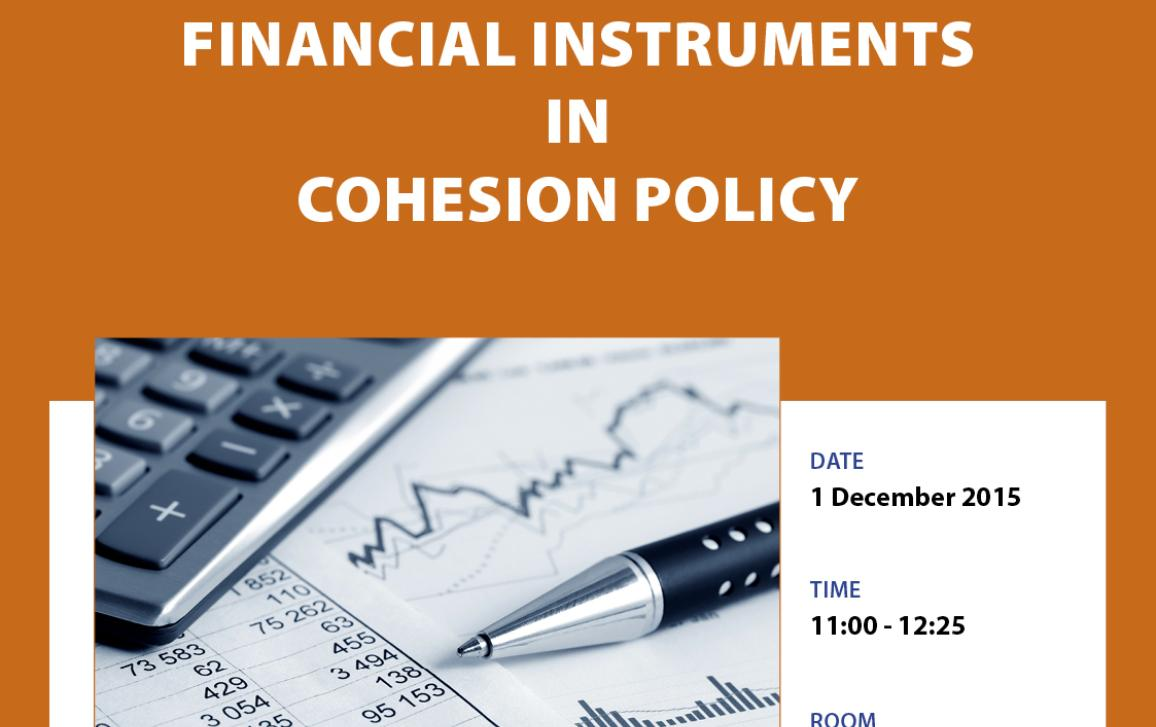 Cover page for Workshop on Financial instruments in Cohesion policy