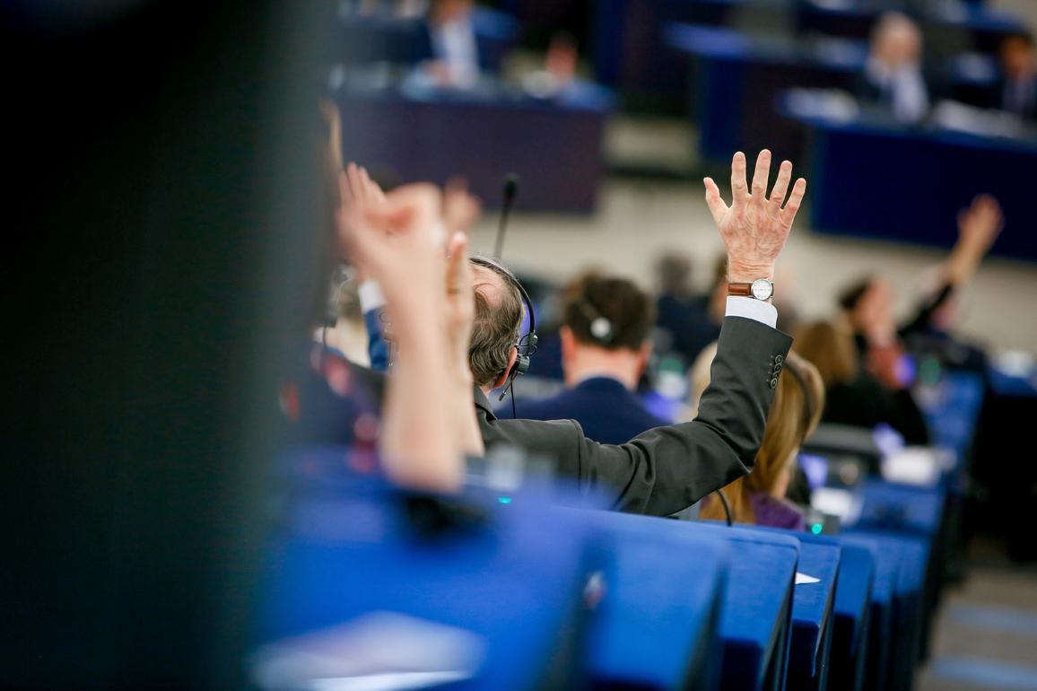 Гласуване в пленарната зала на ЕП