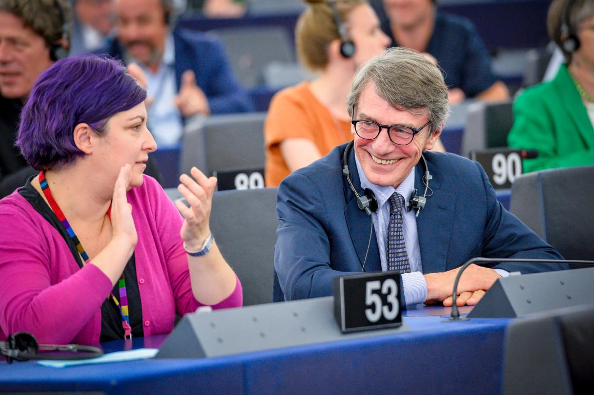 Am 3. Juli wurde David Sassoli mit 345 Stimmen zum neuen Präsidenten des EP gewählt