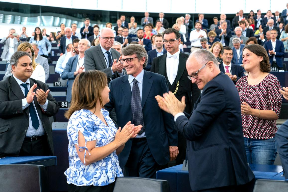 On 3 July 2019, David Sassoli is elected with 345 votes as the new President of the European Parliament.