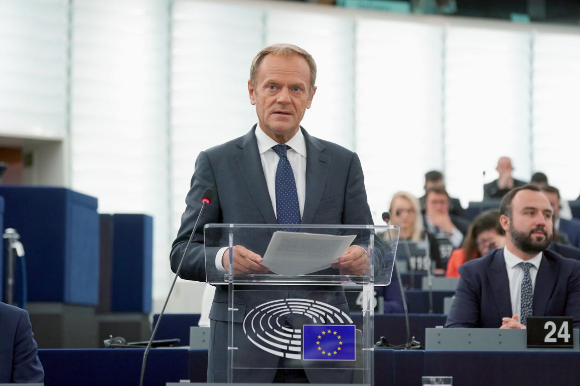 Donald Tusk, President of the European Council, defends the outcome of the summit with MEPs in the first plenary debate of the 9th legislature