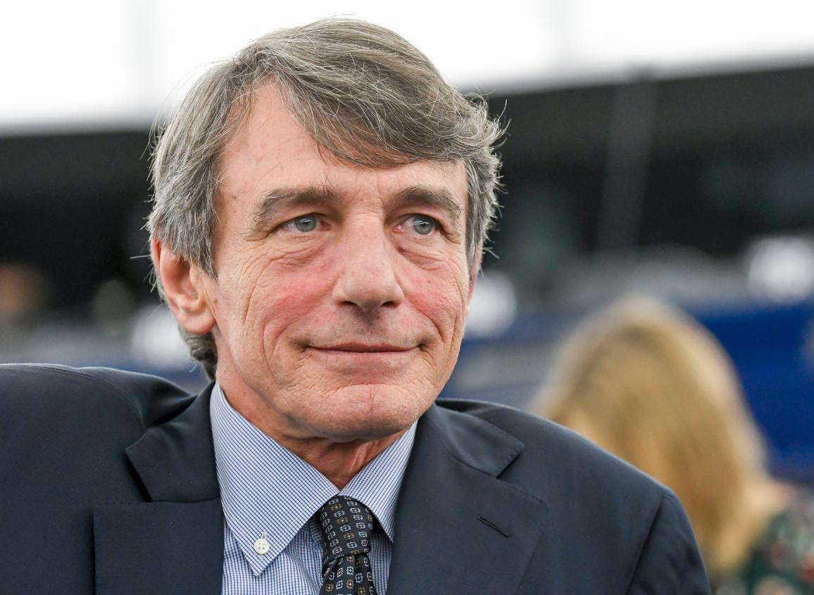 The President of the European Parliament, David Sassoli.
