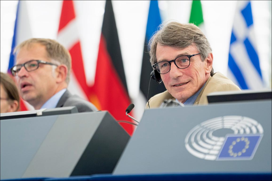 EP President David Sassoli opens July II plenary session in Strasbourg