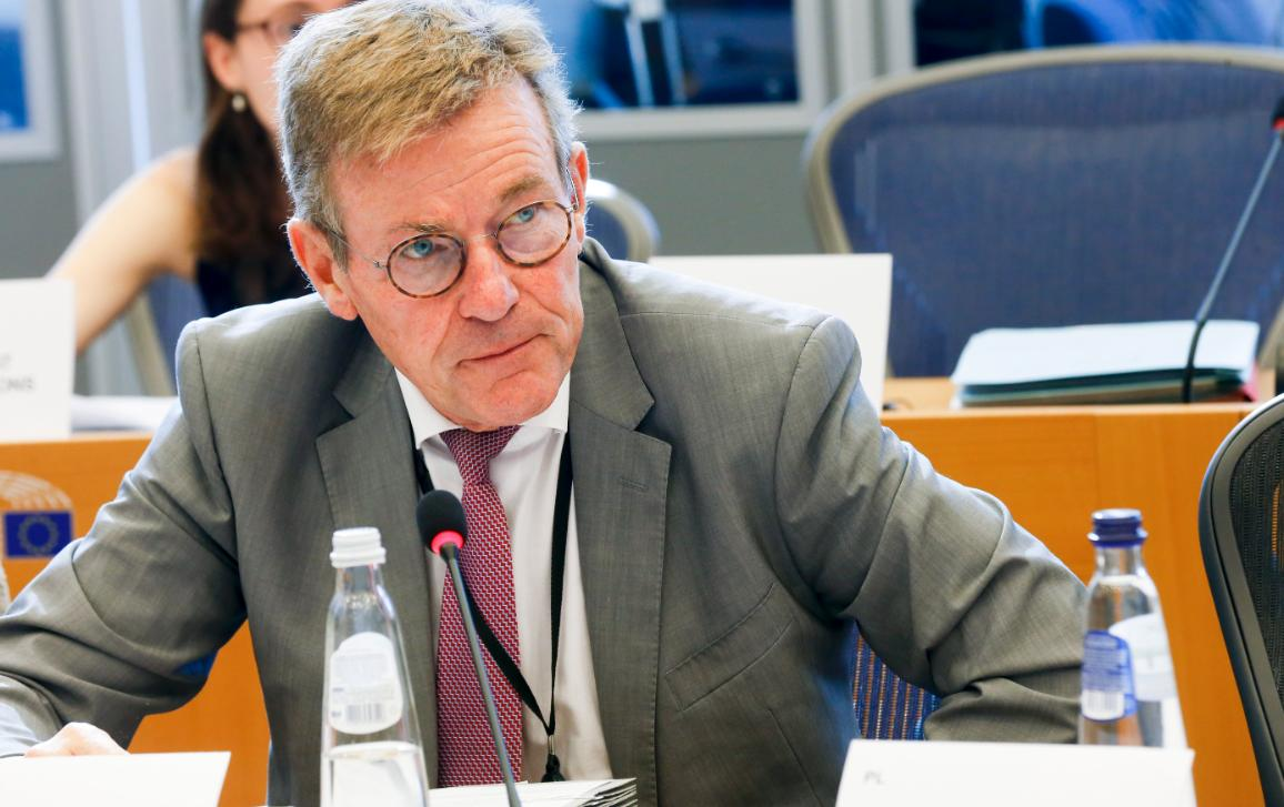Johan Van Overtveldt, Chair of the Committee on Budgets, in a Parliament meeting